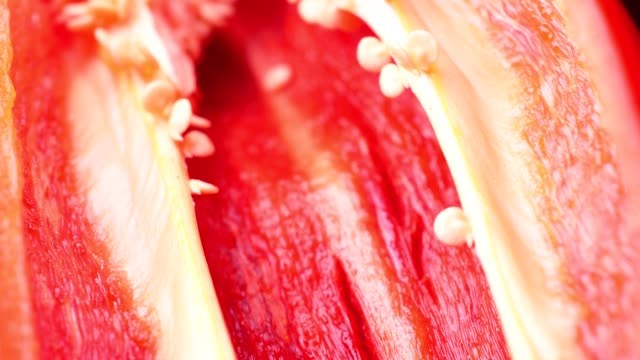 close-up red chilli slice isolated - chilli pepper stock videos & royalty-free footage