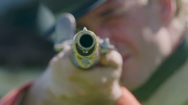 close-up shot of soldier aiming with a rifle - sports target stock videos & royalty-free footage