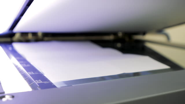 close-up scanning in office - paperwork stock videos & royalty-free footage