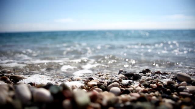Nahaufnahme Meer und Steine