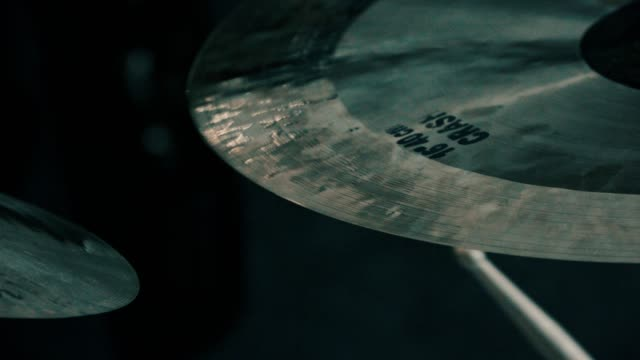 close-up shot of a crash cymbal - cymbal stock videos and b-roll footage