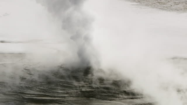 close-up shot of a geyser in the yellowstone national park - condensation stock videos & royalty-free footage