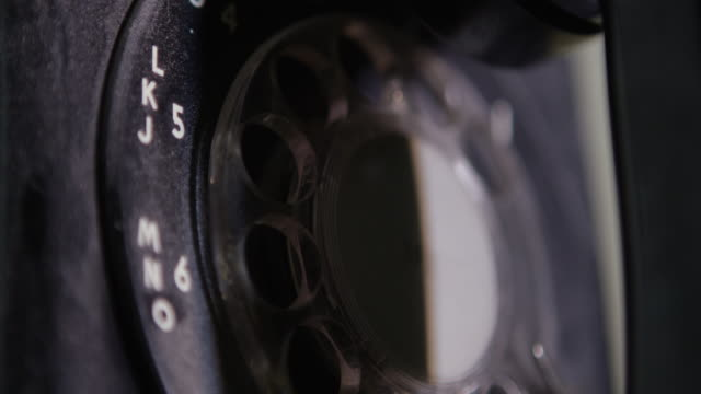 close-up shot of a vintage rotary telephone at nevada test site - rotary phone stock videos and b-roll footage