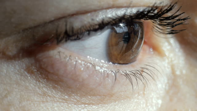 close-up shot of an eye - blinking light stock videos & royalty-free footage