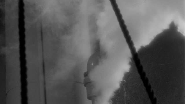 close-up shot of billow of steam blowing from whistle of steamboat - 1937 stock videos & royalty-free footage