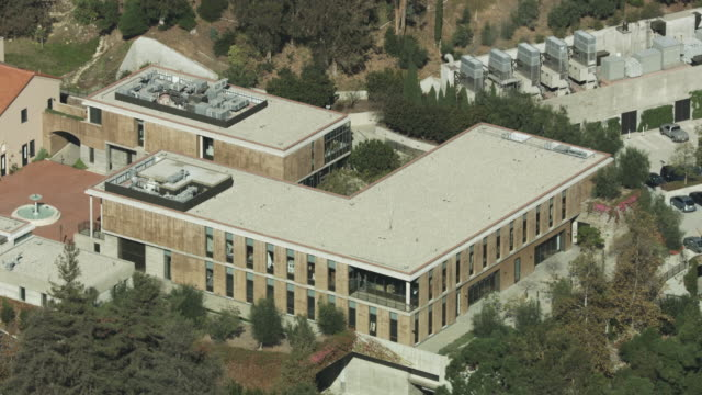 close-up shot of buildings behind the getty villa in malibu - pacific palisades stock videos & royalty-free footage