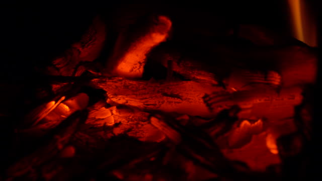 close-up shot of embers and flames - burning coal stock videos & royalty-free footage