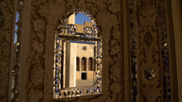 closeup shot of exterior mirror on the borujerdi house - intricacy stock videos & royalty-free footage