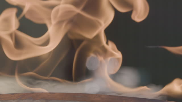 close-up shot of gas flames breaking out from a pipeline crack during an explosion test - damaged stock videos & royalty-free footage