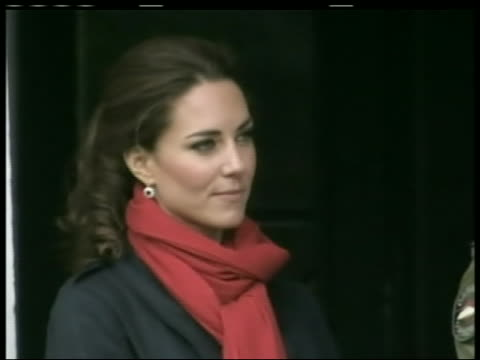 close-up shot of kate middleton, the duchess of cambridge, watching prince william pilot a sea king helicopter. the duke of cambridge flew the... - (war or terrorism or election or government or illness or news event or speech or politics or politician or conflict or military or extreme weather or business or economy) and not usa stock videos & royalty-free footage