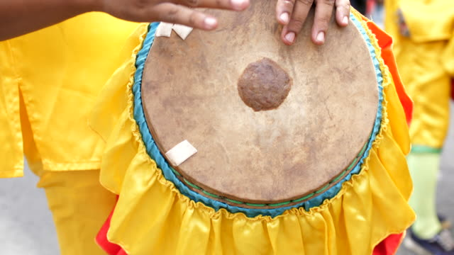 close-up shot of musician playing traditional drum - drum percussion instrument stock videos & royalty-free footage