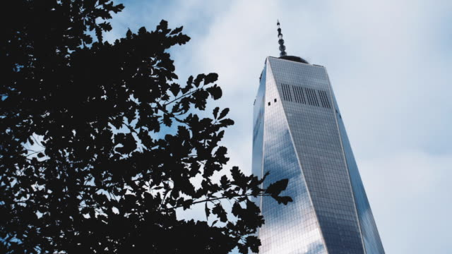 Closeup shot of New York City's World Trade Center