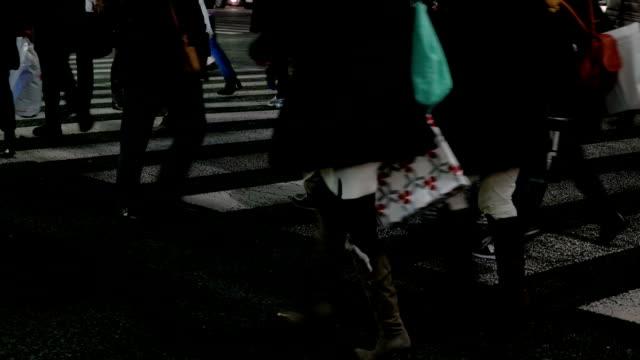 Close-up shot of people Walking in Ginza.Tokyo,Japan.
