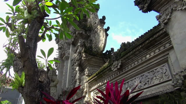 Close-up Shot of Temple Tower in Bali Indonesia