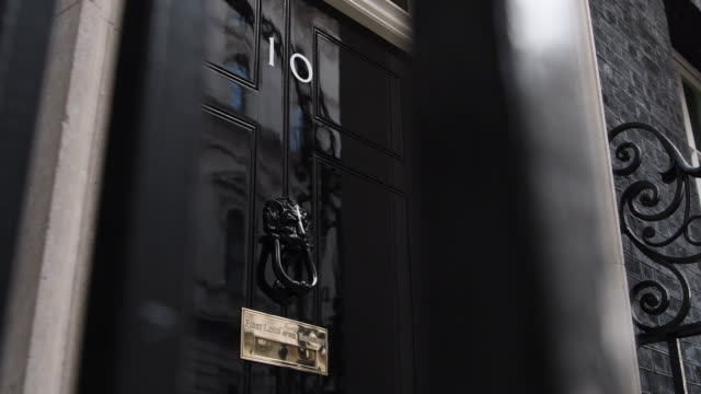 close-up shot of the entrance to 10 downing street on october 31, 2016 in london, england. - 10 downing street stock videos & royalty-free footage