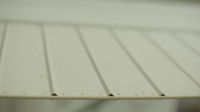 Close-up shot of the wing of a airplane
