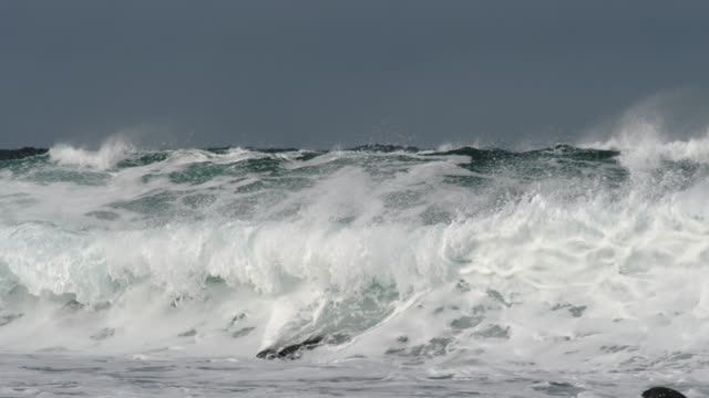 close-up shot of waves - norwegian sea stock videos & royalty-free footage