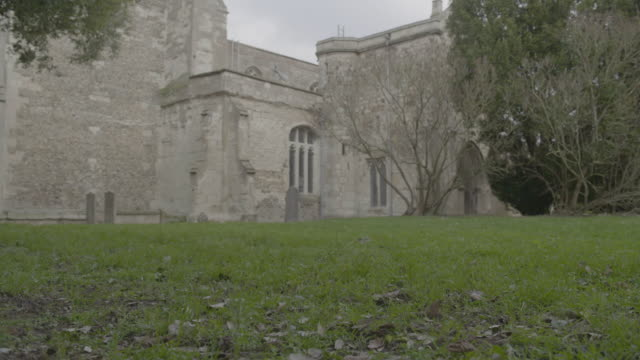 close-up shot of wind blowing the grass in the cemetery of the church of st mary the virgin - ornate stock videos & royalty-free footage