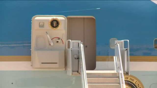 WGN CloseUp Shots Of Air Force One At Tinker Air Force Base on July 16 2015 in Oklahoma City Oklahoma