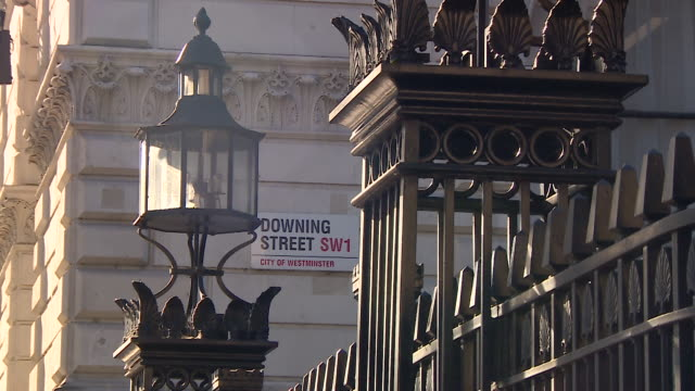 close-up shots of downing street - 10 downing street stock videos & royalty-free footage