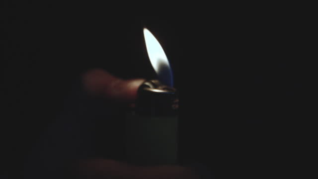 closeup slow motion lighter - high speed photography stock videos & royalty-free footage