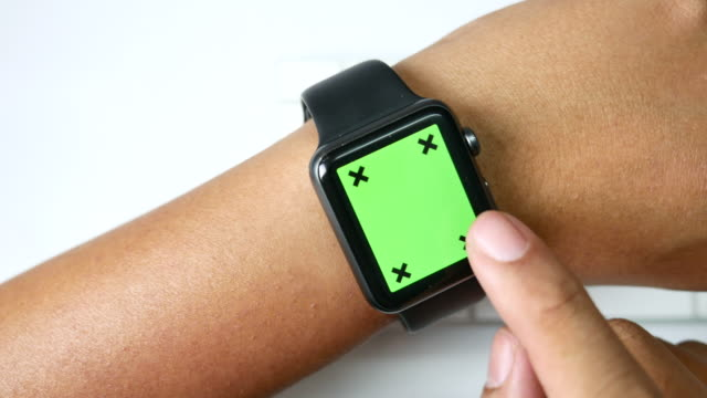 close-up smart watch with green screen - smart watch stock videos & royalty-free footage