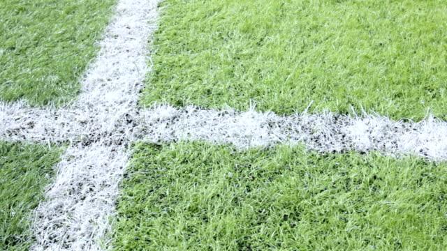 Close-up-Fußballplatz.