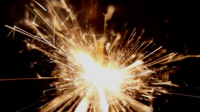 close-up sparkler - sparkler stock videos & royalty-free footage