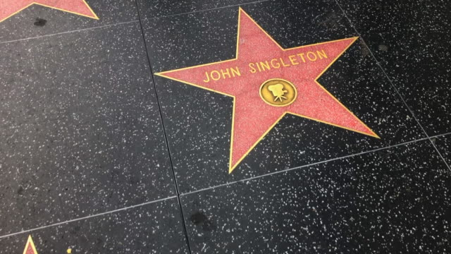 close-up: stars on hollywood walk of fame - walk of fame stock videos & royalty-free footage