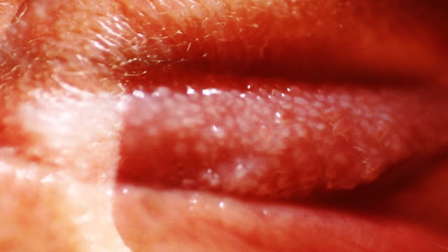 a close-up, strange superimposition of images of a human tongue. - human tongue stock videos & royalty-free footage