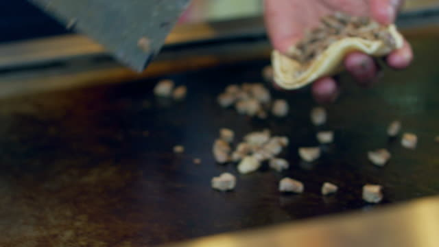 close-up: street taco (shot on red) - taco stock videos & royalty-free footage