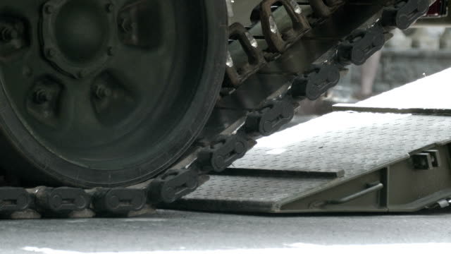 close-up - tank tracks - military land vehicle stock videos & royalty-free footage