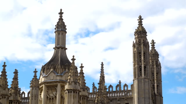 close-up time lapse of king's college chapel - chapel stock videos & royalty-free footage