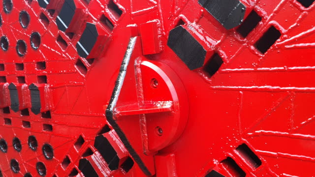 close-up tunnel boring machine . - tunnel stock videos & royalty-free footage