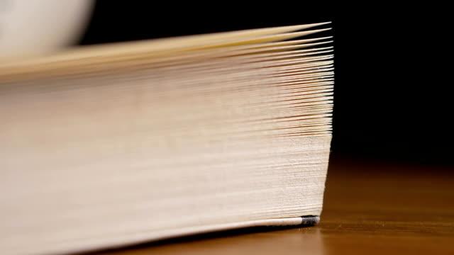 stockvideo's en b-roll-footage met close-up draaien boekpagina's - prentenboek