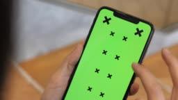 Close-up using Green screen Smart phone
