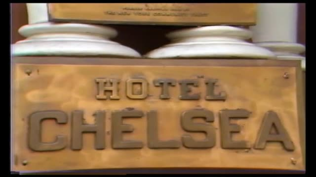 closeup view of bronze plaques on the facade of the chelsea hotel, including plaque in memory of brendan behan and the chesea hotel landmarks of new... - chelsea new york stock videos & royalty-free footage