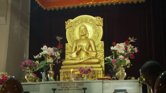 closeup view of buddhist temple altar - male likeness stock videos & royalty-free footage