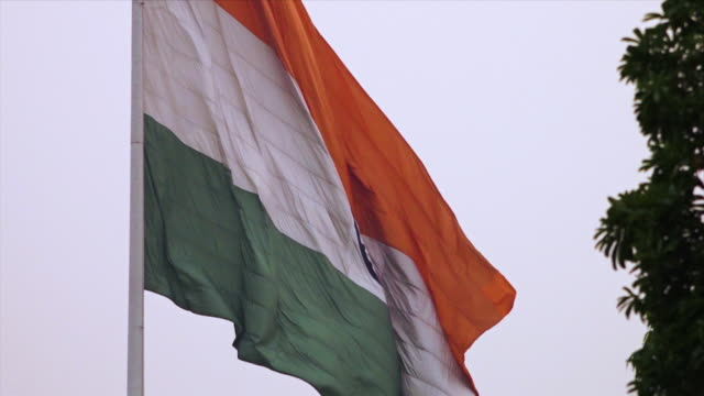 close-up view of indian flag, agra, india - uttar pradesh stock videos & royalty-free footage