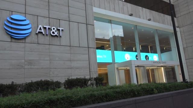 closeup wide and medium shots of ATT headquarters Mid closeup and wide shots of the atT headquarters Day time varies clips of the ATT headquarters...