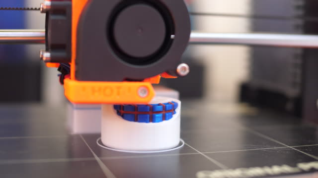 close-up:3d printing object - new stock videos and b-roll footage
