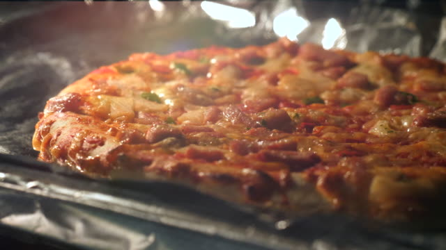 close-up:bake pizza in oven - oven stock videos & royalty-free footage