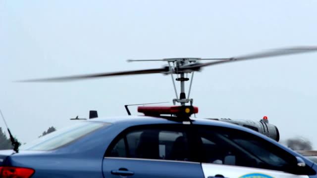 vídeos y material grabado en eventos de stock de primer plano: rotor de helicóptero. - parque de bomberos