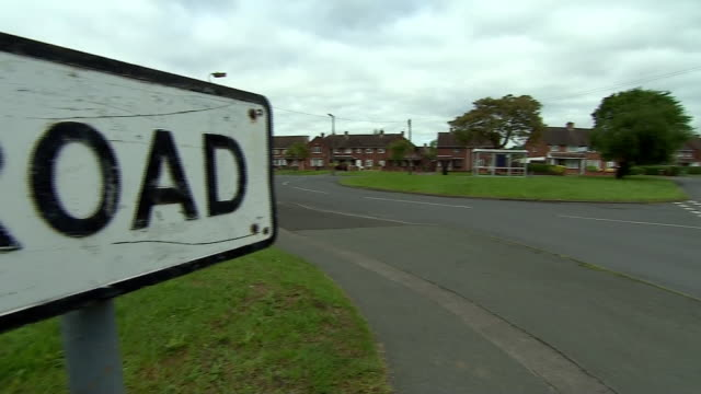 Closeups of road signs in England