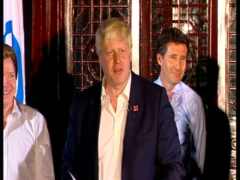 closing ceremony / handover to london boris johnson and gordon brown speeches boris johnson speech sot i can't tell you how proud and amazed i am to... - china east asia stock videos & royalty-free footage