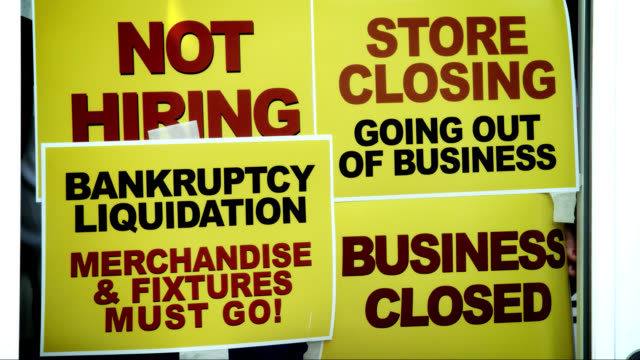 business closing - unemployment stock videos and b-roll footage