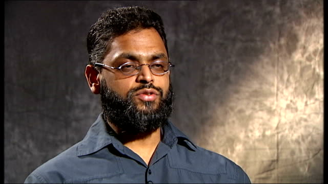 closure of guantanamo bay prison camp priority for obama administration; moazzam begg interview continued sot - talks of being doused in cold water,... - moazzam begg stock videos & royalty-free footage