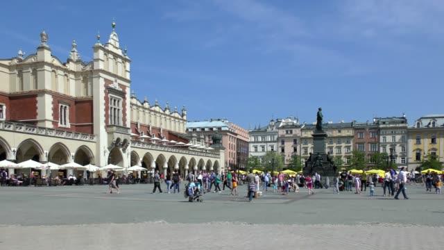 cloth hall - krakow, poland - square stock videos & royalty-free footage