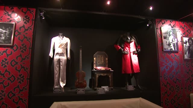 clothes and props owned by Eric Clapton and Freddie Mercury at the Spinal Tap Announce Classic Rock Roll of Honour Nominations at London England