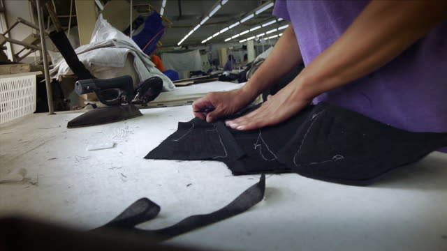 clothes factory - textile industry stock videos & royalty-free footage